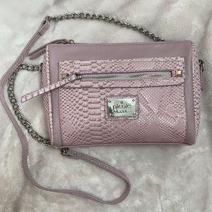 Nicole Miller Lilac Crossbody Chain Bag